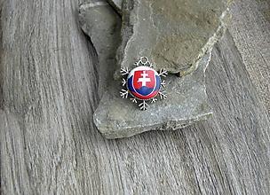 Náhrdelníky - Prívesok Slovesnko (v snehovej vločke, č. 2644) - 10675589_