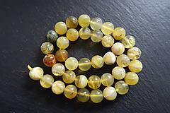 Minerály - Opál žltý 6-8-10mm - 10675439_