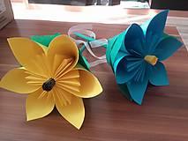 Darčeky pre svadobčanov - Gratulačný kvietok na žreby / bankovky- žltý - 10674159_