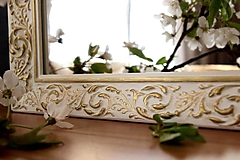 Zrkadlá - Zrkadlo bielo-zlatá noblesa - 10676446_