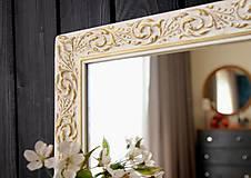 Zrkadlá - Zrkadlo bielo-zlatá noblesa - 10676456_
