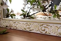 Zrkadlá - Zrkadlo bielo-zlatá noblesa - 10676465_