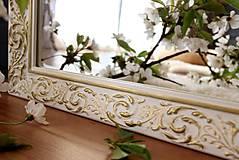 Zrkadlá - Zrkadlo bielo-zlatá noblesa - 10676466_