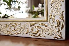 Zrkadlá - Zrkadlo bielo-zlatá noblesa - 10676468_