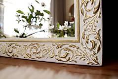 Zrkadlá - Zrkadlo bielo-zlatá noblesa - 10676469_