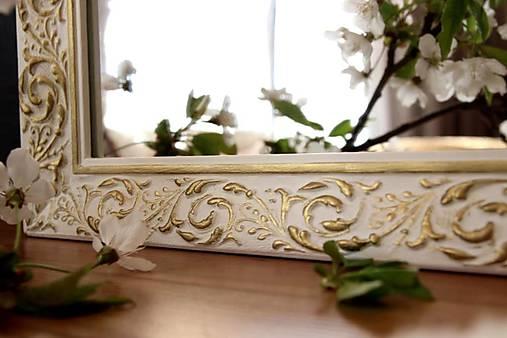 Zrkadlo bielo-zlatá noblesa