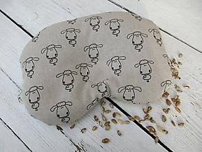 Textil - detský anatomický vankúš plnený pohánkou-ovečka na režnej - 10674069_