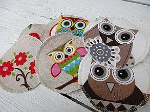 Úžitkový textil - tampóny pre dojčiace mamičky-sova s PUL - 10675757_