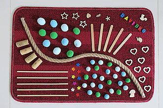 Detské doplnky - Senzomotorický koberec Farebný svet - 10674927_