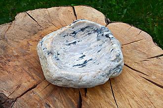 Nádoby - miska z kameňa - 10675669_