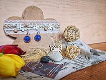 Náušnice - Blue Night sky earrings - 10673984_