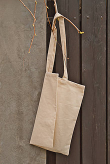 Nákupné tašky - Plátená EKOlogická taška, dlhé ušká - 10674786_