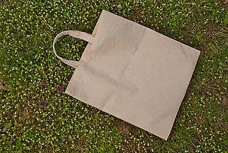 Nákupné tašky - Plátená EKOlogická taška, krátke ušká - 10674791_