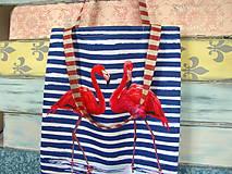 Nákupné tašky - Taška pro slečnu plameňákovou - 10674615_