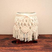 Svietidlá a sviečky - Makrame vázička - 10675195_