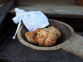 Úžitkový textil - Ľanové vrecúško biele - 10676032_