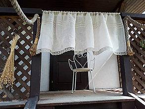 Úžitkový textil - Ľanová záclona Natural - 10676151_