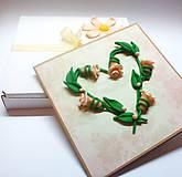 Papiernictvo - Ruže svadobné ... (pohľadnica s krabičkou) - 10679340_