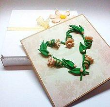 Papiernictvo - Ruže svadobné ... - 10679340_
