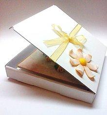 Papiernictvo - Ruže svadobné ... (pohľadnica s krabičkou) - 10679364_