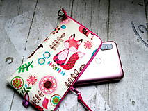 "Na mobil - Pink Fox  ... púzdro na mobil "" L"" - 10679049_"
