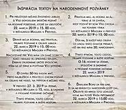 """Papiernictvo - Pozvánka na oslavu jubilea """"Cyklamenové pivónie"""" (Printová forma) - 10677978_"""