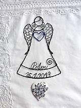 Dekorácie - anjelik s menom a dátumom - 10679732_