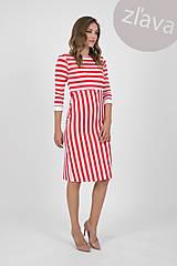 Šaty - -10% MIESTNE šaty puzdrové pruh (červené) - 10679076_