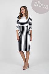 Šaty - -10% MIESTNE šaty puzdrové pruh (modré) - 10679080_
