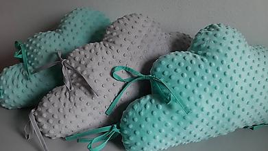 Textil - Obláčik veľký do hniezda 60 x 35 cm minky - 10679197_