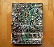 Obrazy - Zelený ornament - 10679854_