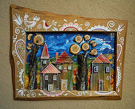 Obrazy - Malebná dedina - 10679882_