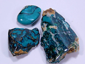 Minerály - 3 Pseudomalachity z Ľubietovej - 10679471_