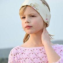 Detské doplnky - čelenka romantická - 10679482_