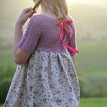 Detské oblečenie - šaty PRINCESS ametyst - 10679651_