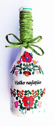 Nezaradené - Víno v dekorovanej flaši - 10679130_