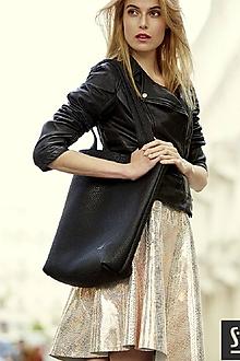 Veľké tašky - Kožená taška SHOPPER - 10679865_