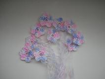 Materiál ručne robený - minikvetinky trojfarebné - 10678211_