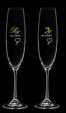 Nádoby - Svadobné poháre na zakázku pre_bubloska - 10677144_