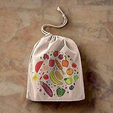 Iné tašky - Lietajúca zelenina (bavlnené vrecko) - 10678460_