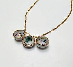 Náhrdelníky - Porcelánový šperk - mištičkový - 10679071_