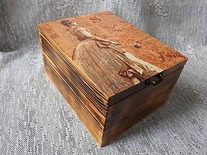 Krabičky - Krabice vysoká vintage dáma - 10679303_