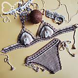 Bielizeň/Plavky - Hačkované plavky Dyona Kokoska - 10678024_