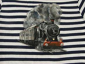 Detské oblečenie - Tričko s lokomotívou - 10679569_