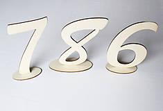 Dekorácie - čísla svadobných stolov - 10678884_
