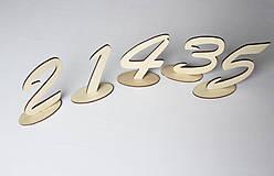 Dekorácie - čísla na svadobný stôl 10cm - 10678918_