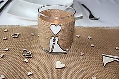 Dekorácie - svadobné svietniky - 10678933_