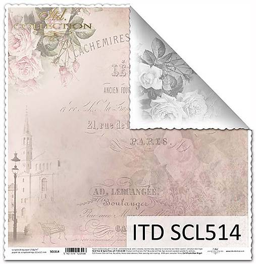 papier na scrapbooking SCL514