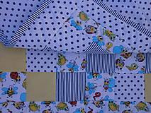 """Textil - """"Veselé chrobáčiky"""" žlto - modrá deka - 10678939_"""