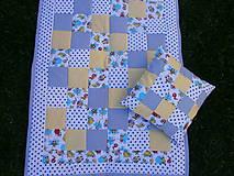 """Textil - """"Veselé chrobáčiky"""" žlto - modrá deka - 10678942_"""